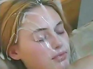 Blonde Cumshot Facial European Teen
