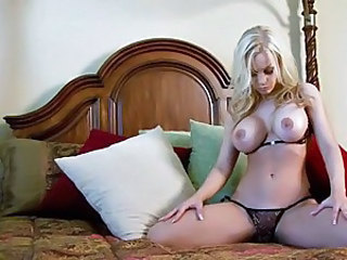 Jenny Poussin shows off her freshly shaved twat by dropping her panties