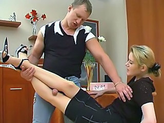 Ninette&Adrian great nylon feet video
