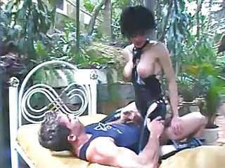 Latex shemale bitch gets jizzed