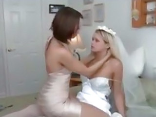 Bride and her maid of honor have sex