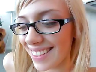Blonde European Glasses Teen