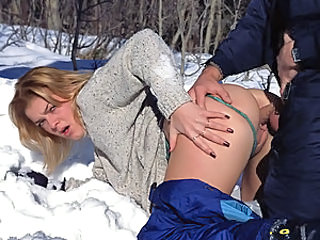 Sissi is so much so steamy babe that no chill is able to cool her down, especially when she is randy! Watch here as she as fucks and eats up her man at the foothills of the snowy Alps until he bear no