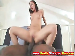 Huge black cock inside her tight wet pussy - Devils Film