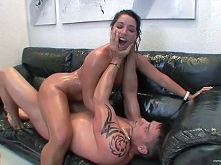 Big Assed Latina Monica Santhiago Gets a DP and a Facial In a 3some
