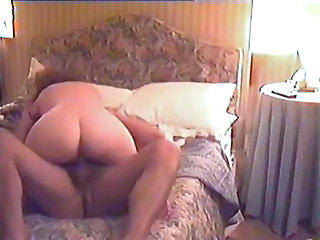 Couple at home with her on his cock