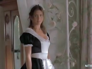 Beautiful Jennifer Aniston Looking Super Hot In a Slutty Maid Uniform