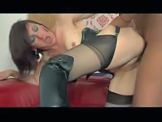 Big cock French Hardcore Interracial Mature Stockings