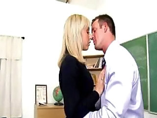 Blonde Bus MILF Teacher