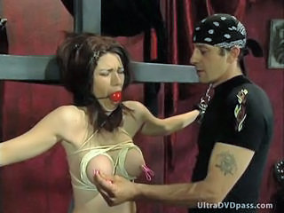 Busty Submissive Female Gets Tied Up and Whipped By Sadistic BDSM Master