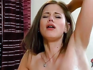Heavy chested blonde and dark haired lezzie doing 69 on couch