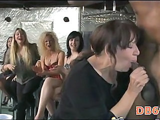 Blowjob CFNM Interracial Party Public