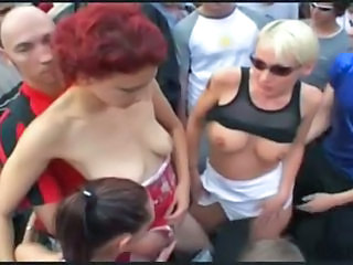 Dancing Public Stripper