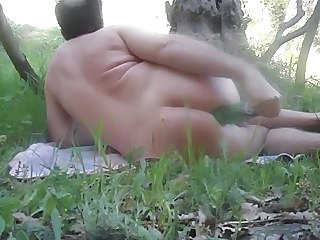 Chubby Fisting Insertion Mature Outdoor