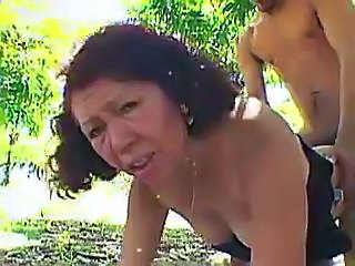 Latina Mature Outdoor