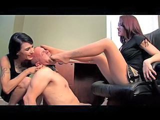 Two Hose Dommes Foot Stuff Sub