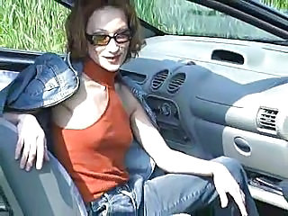 Amateur Anal Car Glasses Outdoor Redhead