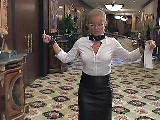 Amazing Bondage Glasses Maid Pornstar