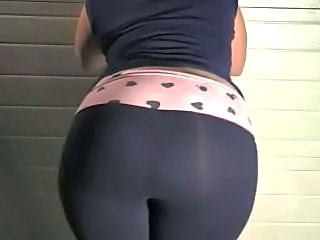 Irish Pawg M.J. in her garage