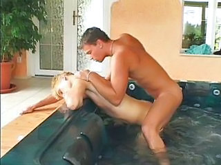 Fucking him in the pool
