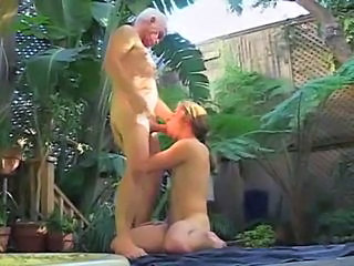Dirty old grandpa goes berserk on on young twink