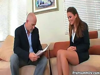 Boss calls in his secretary for a little dictation his way