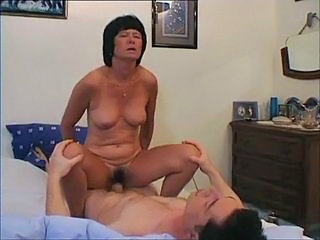 Mature bitch anus covered with hot jizz