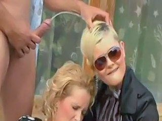 Blonde Golden Shower Threesome