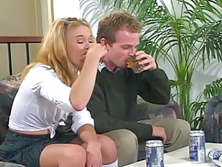 Teen kelly gets drunk and fucked