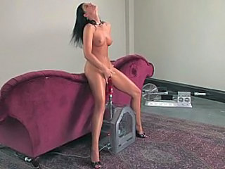Amazing Machine Masturbating Pornstar