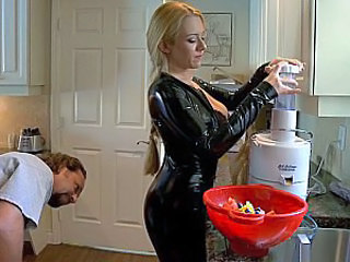 Amazing Kitchen Latex MILF