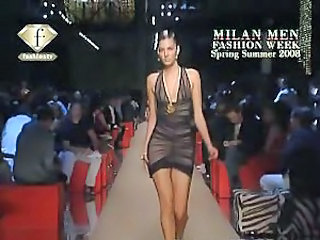 See nipples of models on the catwalk