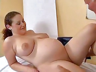 Wicked old dude fucked by pregnant slut