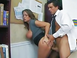 Office fuck gets a little rough and is hot