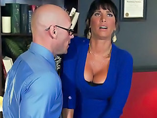 Big titted milf brunette Lezley Zen is going to fix her sex life problems with the help of sex therapist. And she finds herself sucking and riding his nice size dick. She prefers his hard dick to her