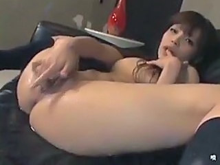 Japanese girl solo play means masturbating