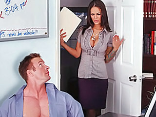 Angelina's boss leaves unexpectedly but before leaving warns Angelina not to go in her office. Being the nosy secretary that Angelina is, she goes into her boss' office to find TJ handcuffed to her ch