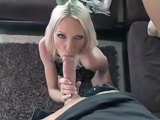 Horny Blonde MILF Emma Star Gets a Thick Cum On Tits In High Heels