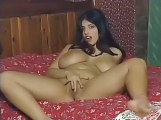 Curvy girl with big tits striptease