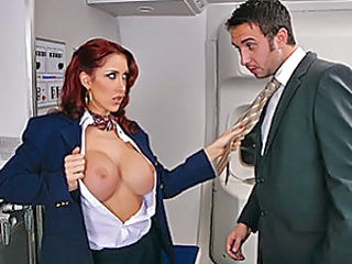 Keiran is on an important business trip with Brazzers Airline. He takes his seat and enjoys his flight. As much as he's trying to get things done before he reaches his destination, he cannot stop from