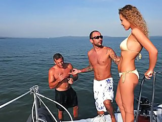 Greg and Colette were enjoying some peace on their yacht when Colette spotted a shipwrecked guy in the water. After they helped him up onto the deck they offered him some first aid: Colette started su