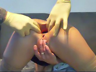 Extreme anal dildo play with hottie