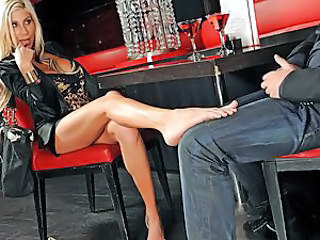 Puma Swede and Mick are having a serious business dinner at a fancy restaurant. All went smoothly and well the only thing Puma was uncomfortable about is that Mick was always staring at her feet. In o