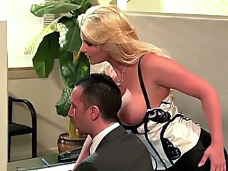 Busty Blonde Office Slut Phoenix Marie Gives Blowjob and Gets Fucked