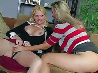 Vega and her girlfriend Victoria on the lesbian love seat for hot action