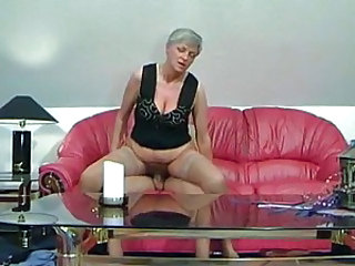 Granny slut filled with dick