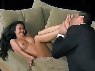 Asian slut on the couch waiting for doggy style
