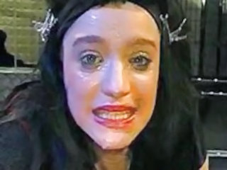 Brunette Bukkake Facial Mature