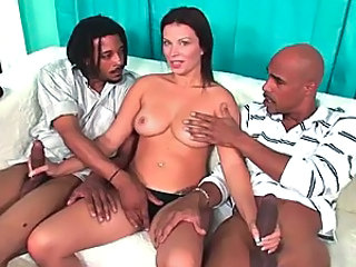 Sassy Brunette Milf Bailey Brooks Has A One Nasty Interracial Threesome