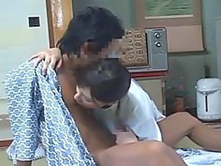 Japanese massage 07 - female masseuse with a guy